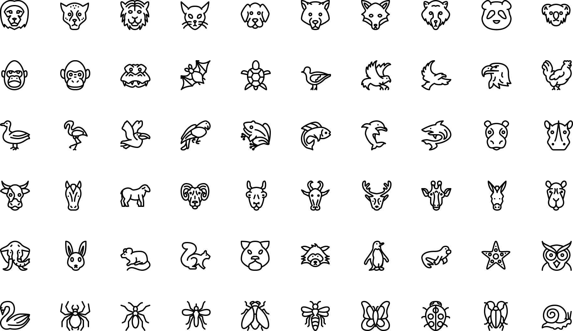 Preview counticons icons vector line and solid icons collection icon animals biocorpaavc Gallery