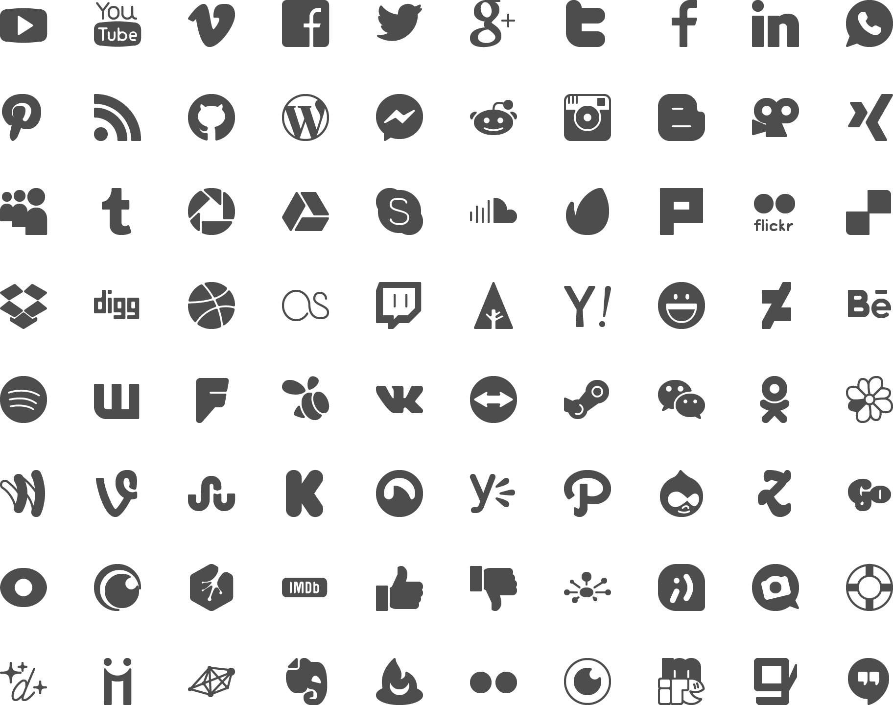 icon Social Icons