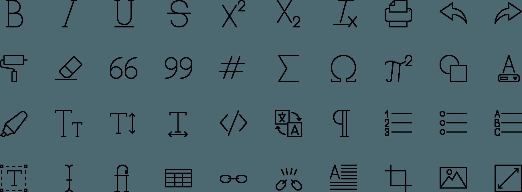 icon Text Editor