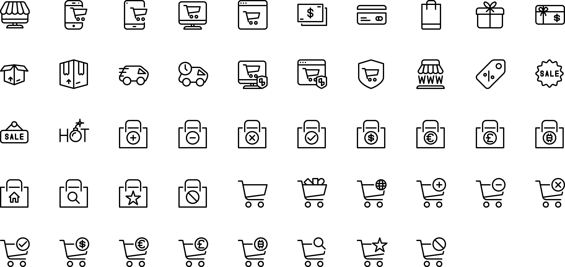 Vector Line And Solid Icons