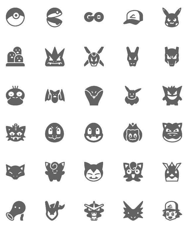 Pokemon GO Icons_solid