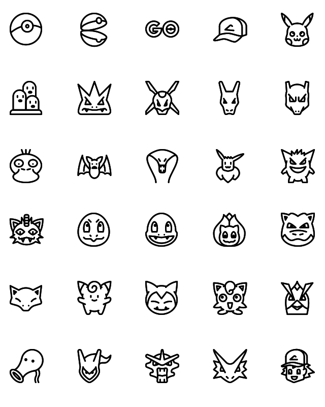Pokemon Line icons
