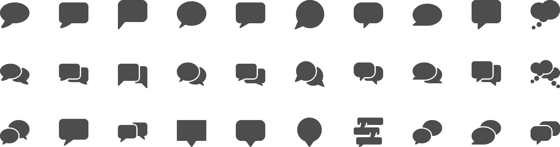 icon Speech Bubbles