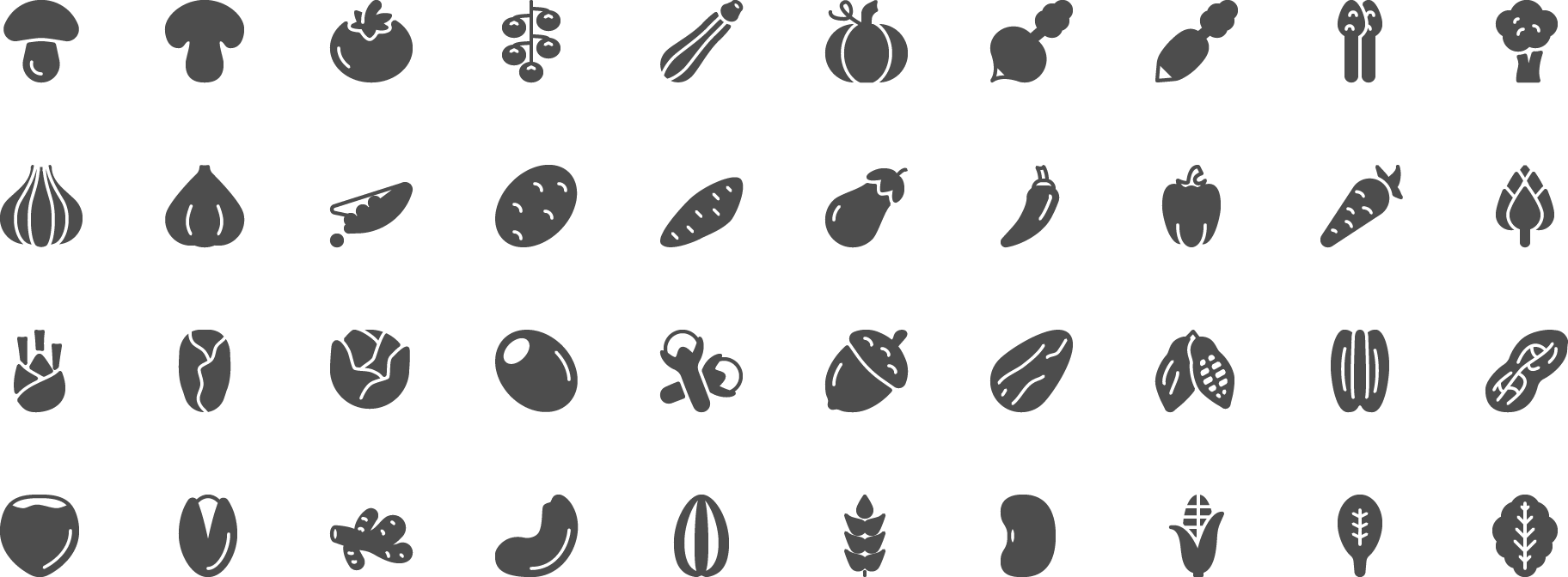 icon Vegetables and Seeds